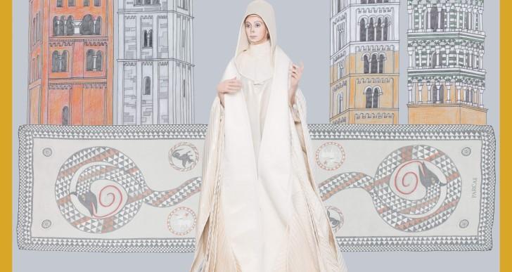 Una collezione di foulard per Matilde di Canossa