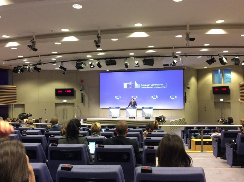 Commissione europea, incontro quotidiano con la stampa, Berlaymont press room
