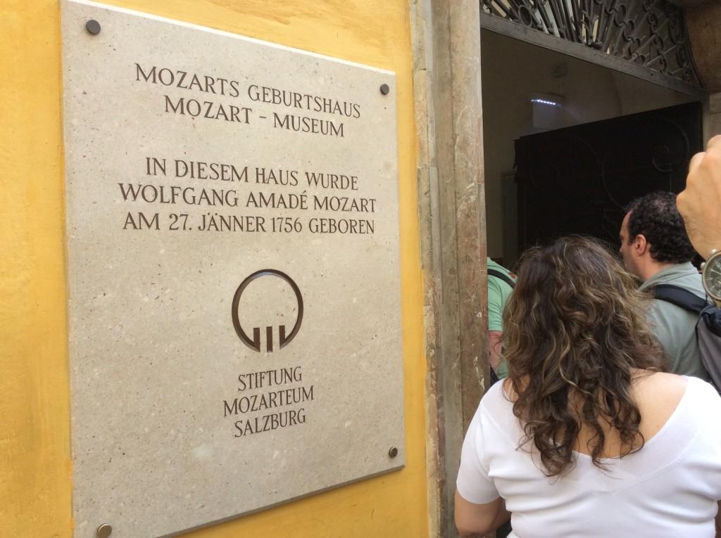 L'ingresso della casa di Mozart
