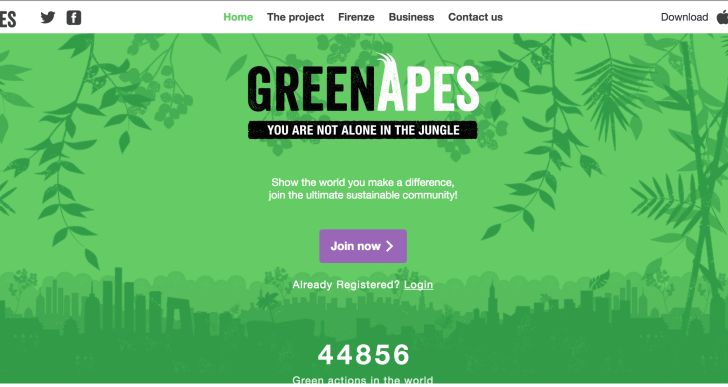 GreenApes, la app delle buone pratiche ambientali sbarca a Firenze