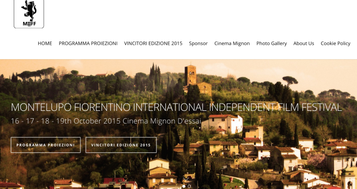 Dal 16 ottobre il MIIFF, Montelupo Fiorentino International Independent Film Festival