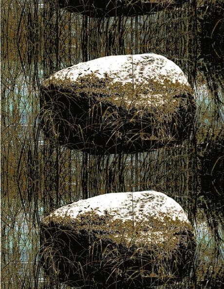 Kivi Sasso, stampa su cotone disegnato per Eurokangas. Il tessuto fa parte della collezione realizzata per celebrare il centenario dell'indipendenza della Finlandia