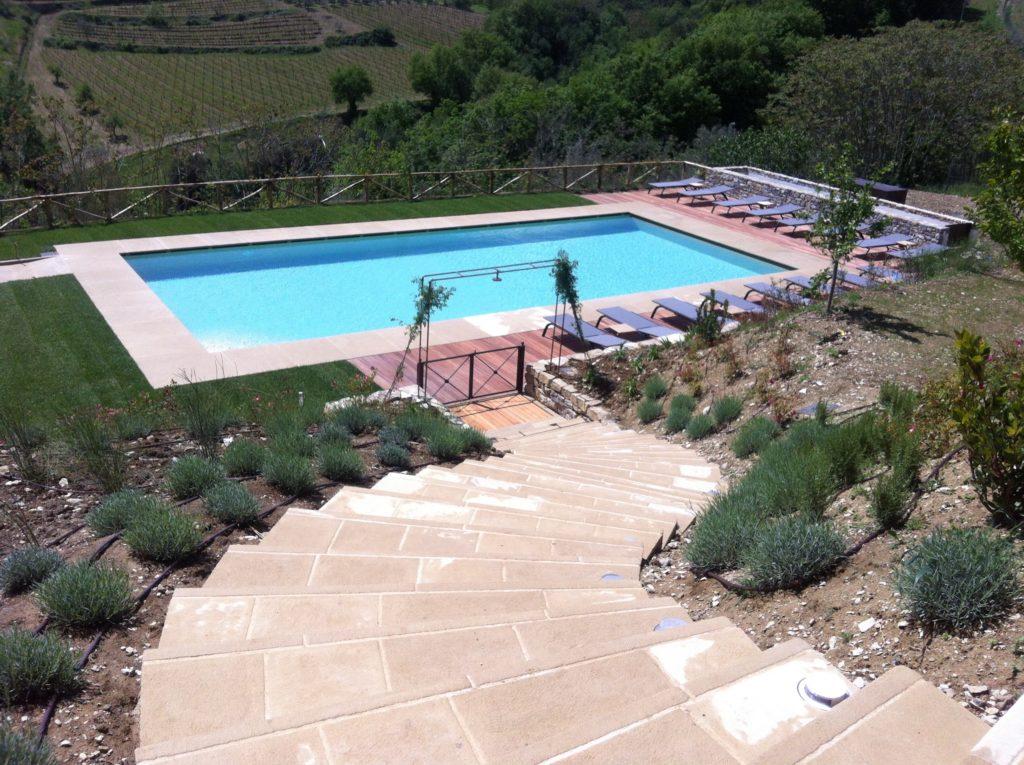Borgo del Cabreo, la piscina
