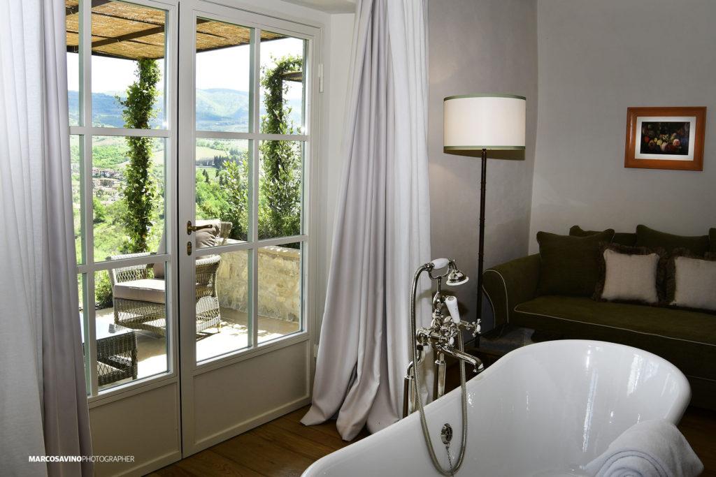 Borgo del Cabreo, relais di charme, camera con vista