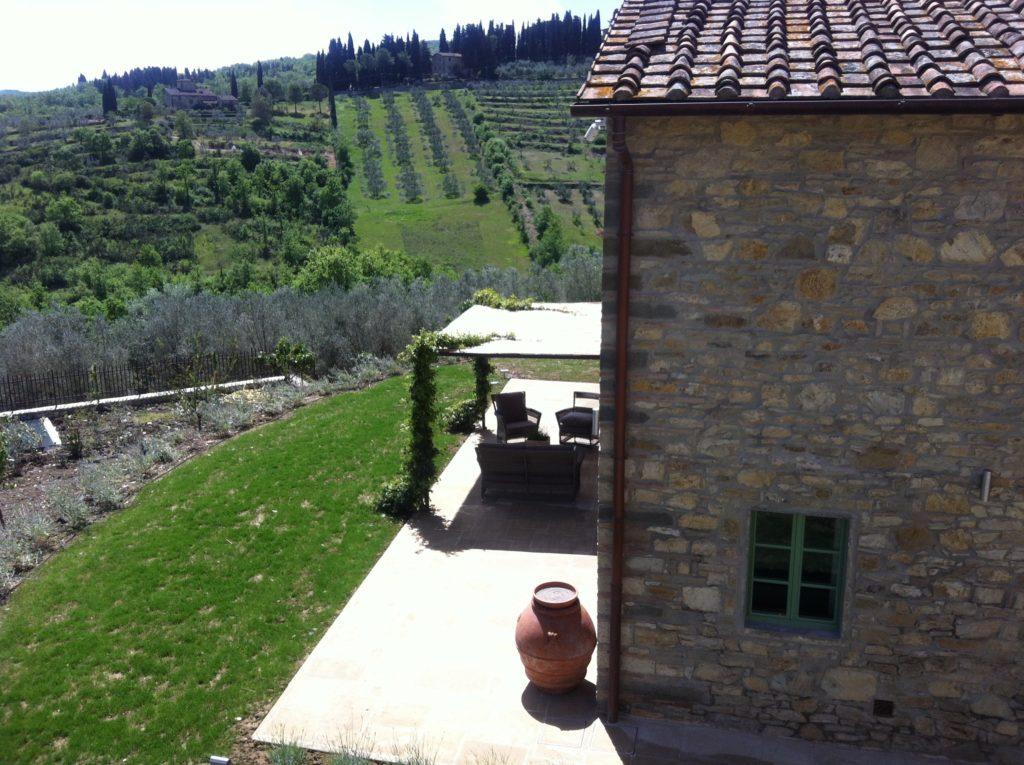 Borgo del Cabreo, relais di charme, un angolo con vista sulla vigna