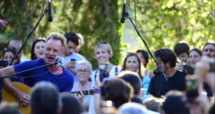 Festa d'estate per Sting e Trudie Styler con amici alla tenuta Il Palagio