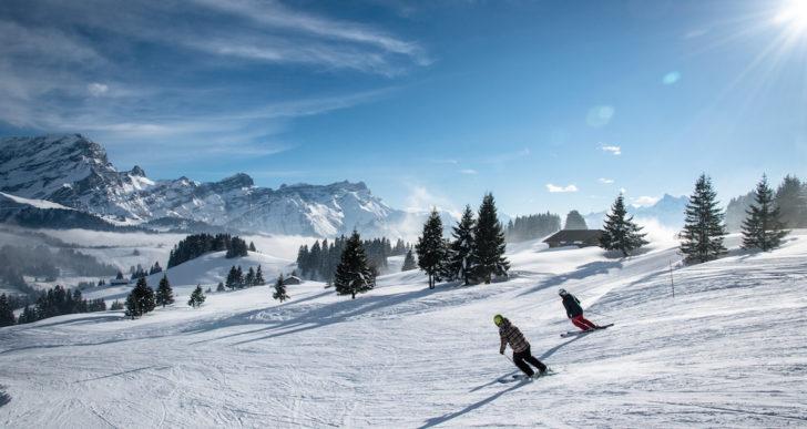 Oltre 100 km di piste sulle Alpi Vodesi in Svizzera. Da non perdere il Treno del Formaggio e la Fête des Vigneron